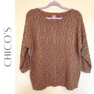 CHICO'S Marian Marled Pullover, Large (12), NWT!